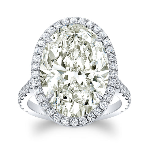 10.02 Oval Diamond Ring - Mizrahi Diamonds