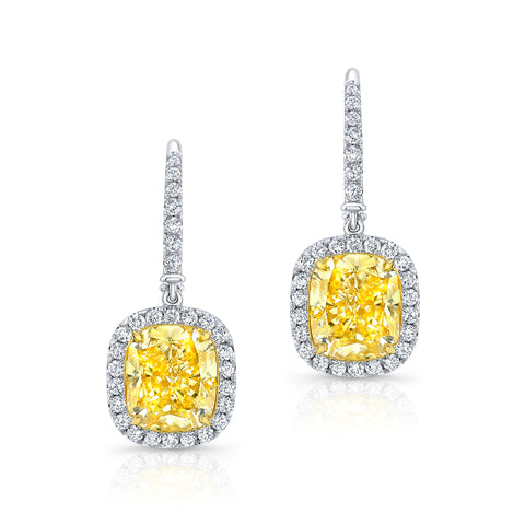 Fancy Yellow Diamond Earrings - Mizrahi Diamonds