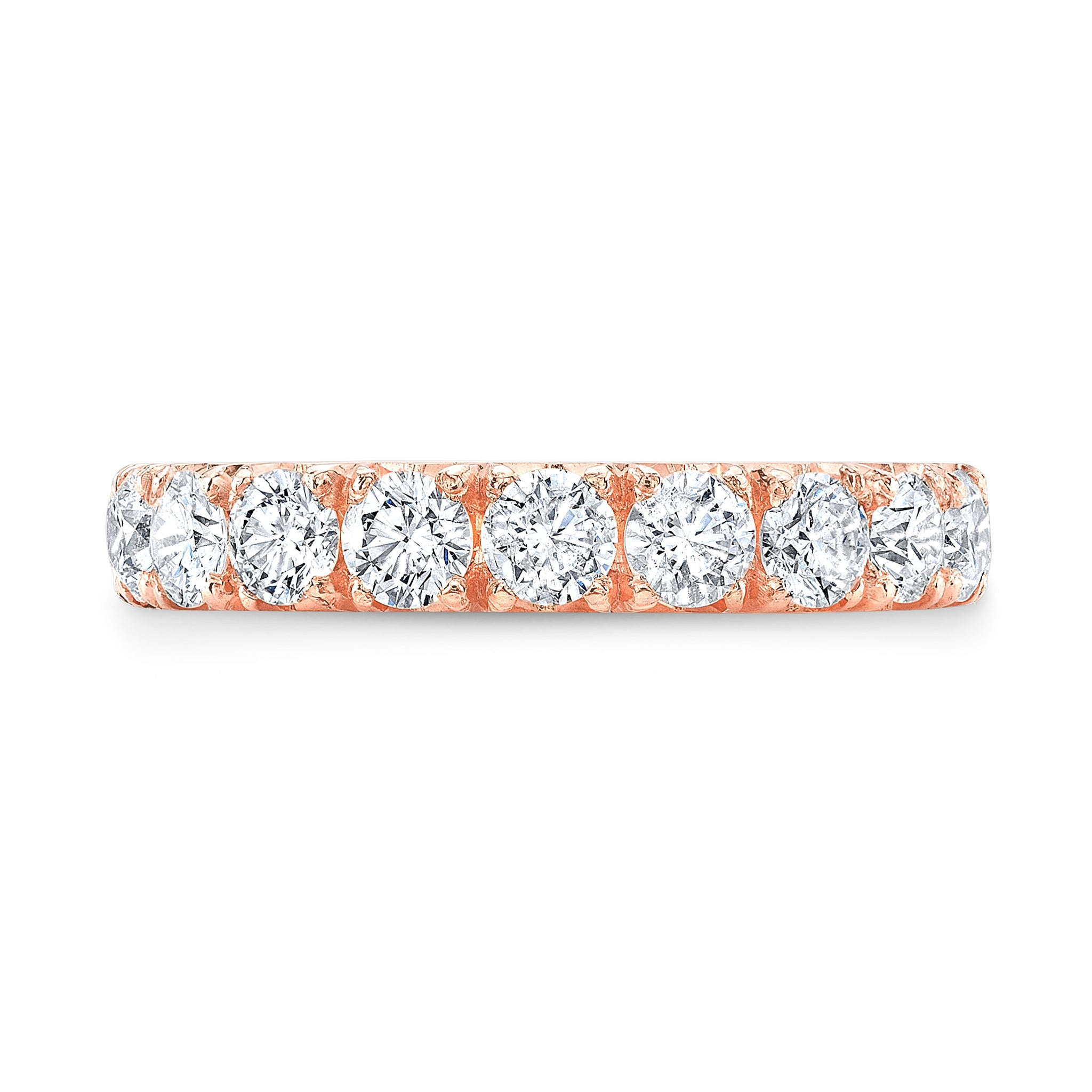Rose Gold Eternity Band - Mizrahi Diamonds