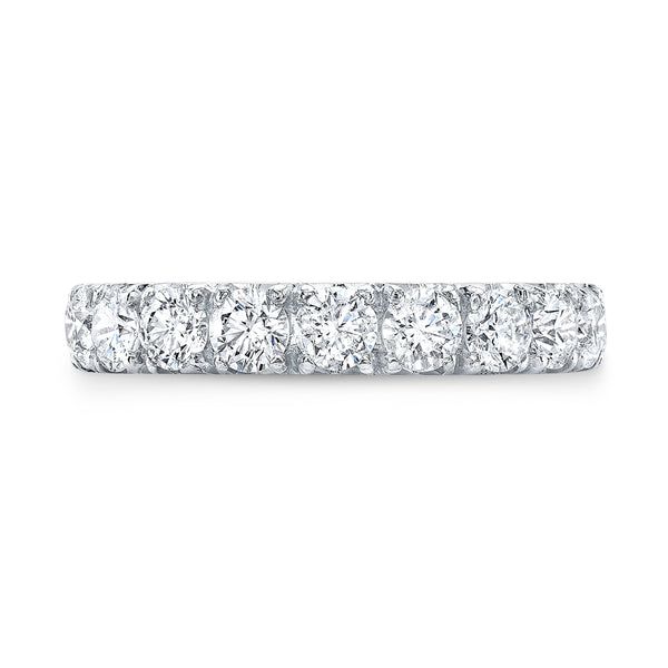 White Gold Eternity Band - Mizrahi Diamonds