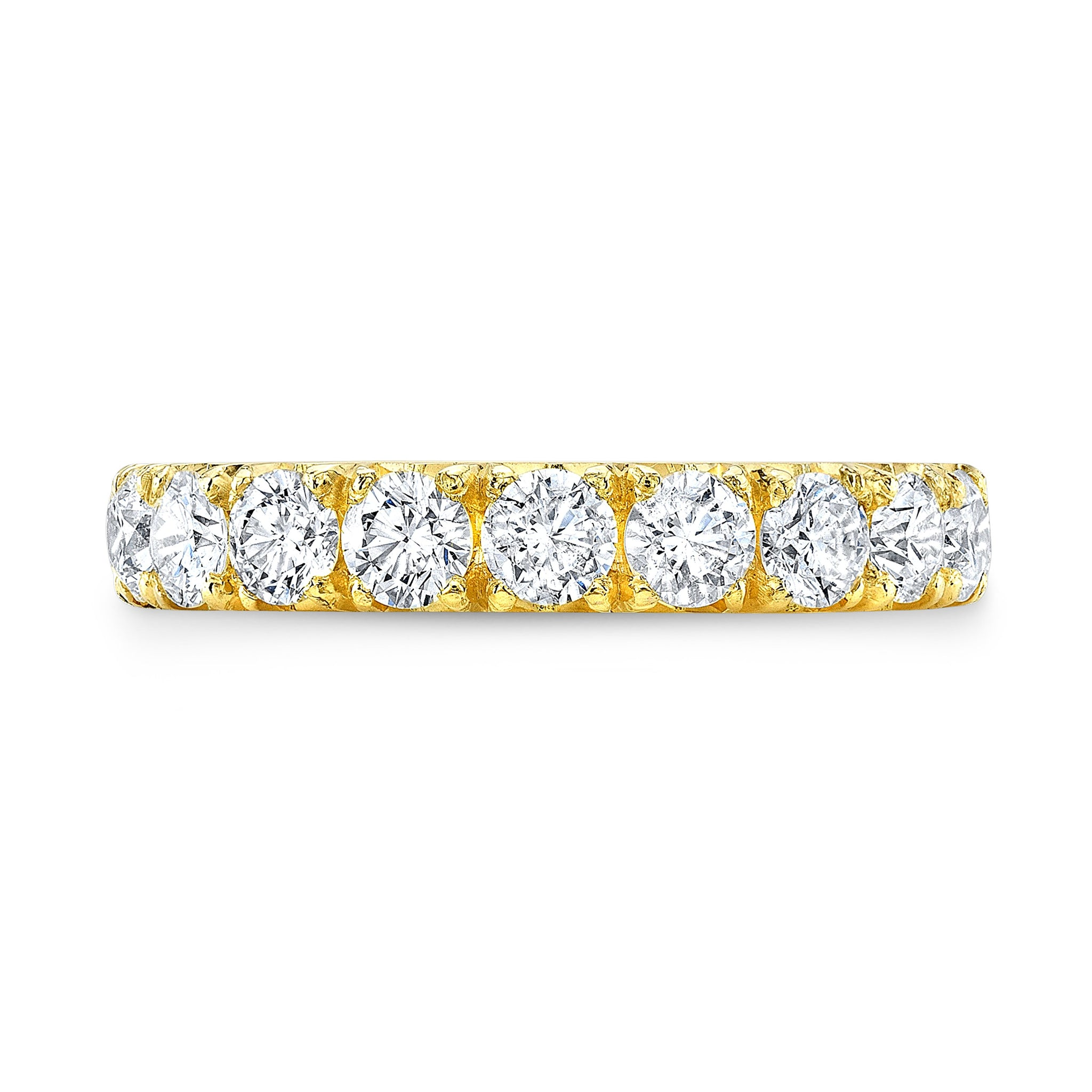 Yellow Gold Eternity Band - Mizrahi Diamonds