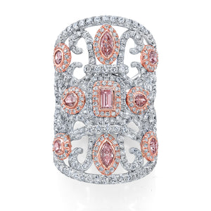 A Bespoke Pink Diamonds Ring - Mizrahi Diamonds