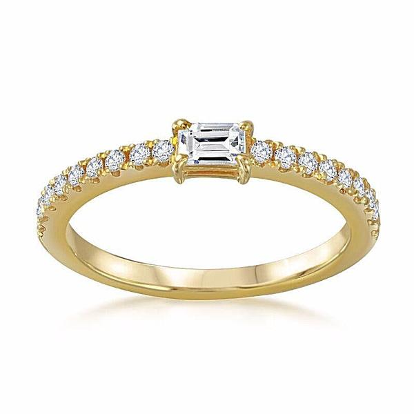 East-West Baguette Ring - Mizrahi Diamonds