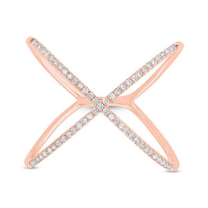 The Iconic X Ring - Mizrahi Diamonds