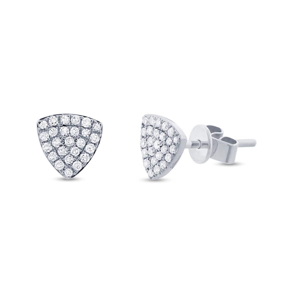 Diamond Pave Stud Earring - Mizrahi Diamonds