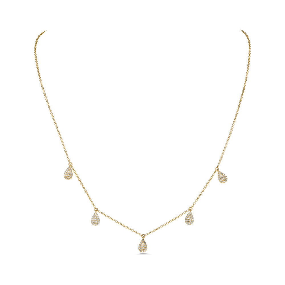 Pear shape Diamond Necklace