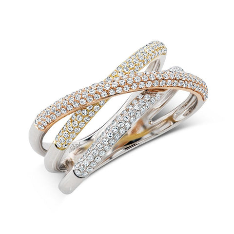 Triple Gold Ring - Mizrahi Diamonds