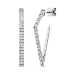 Angle shape Diamond Earrings