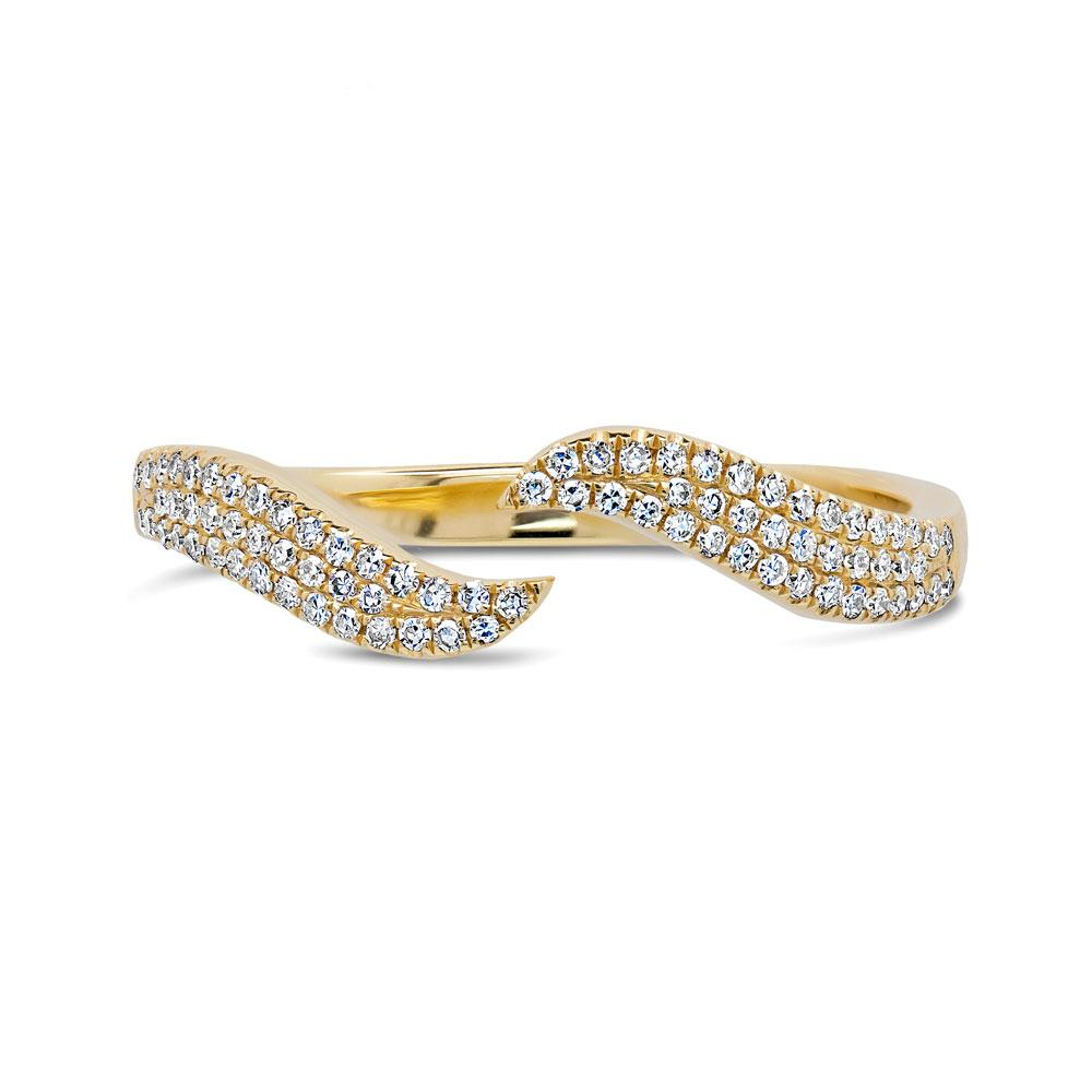 Stackable Wave Diamond Ring - Mizrahi Diamonds