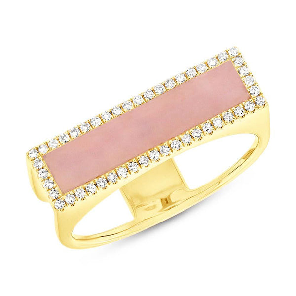 Pink Opal and Diamond Ring - Mizrahi Diamonds