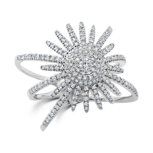 Sun shape diamond ring - Mizrahi Diamonds