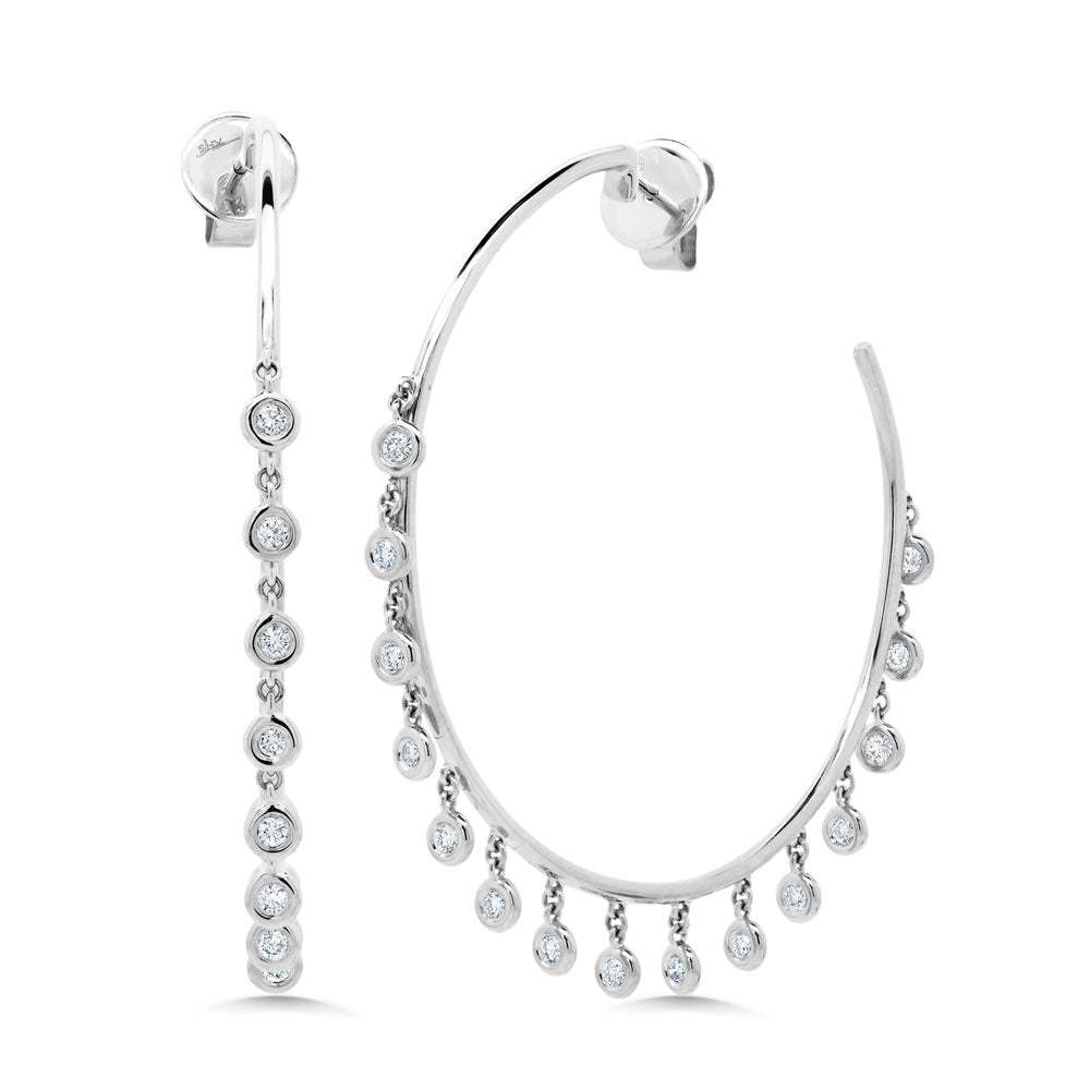 Diamond Shaker Hoop Earring