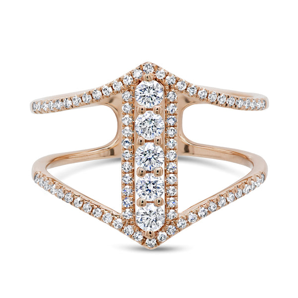 Stackable diamond ring by Mizrahi Beverly Hills