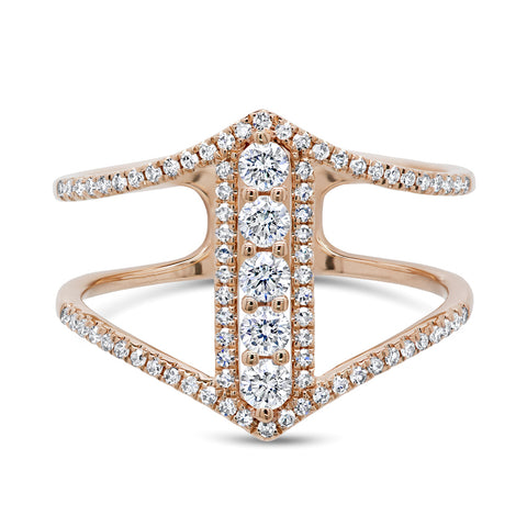 Double arrow ring - Mizrahi Diamonds