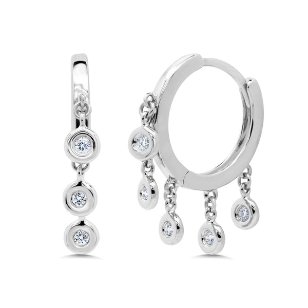 Huggy Diamond Earring