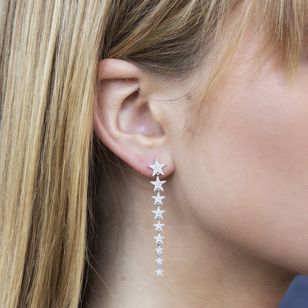 Diamond Star Earring