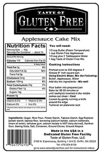 Taste Gluten Free Apple Sauce Cake Mix Nutrition Facts