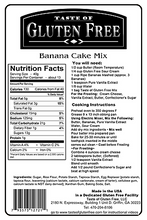 Taste Gluten Free Banana Cake Mix Nutrition Facts