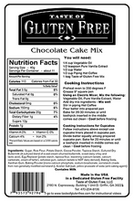 Taste Gluten Free Chocolate Cake Mix Nutrition Facts