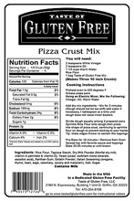 Taste Gluten Free Pizza Crust Mix Nutrition Facts