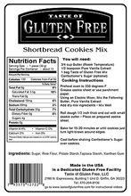 Taste Gluten Free Shortbread Cookies Mix Nutrition Facts