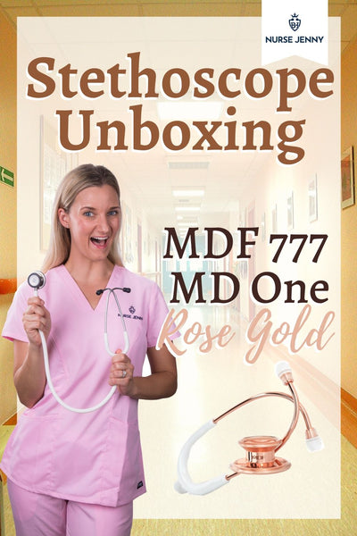 MDF 777 MD One Rose Gold Stethoscope Unboxing