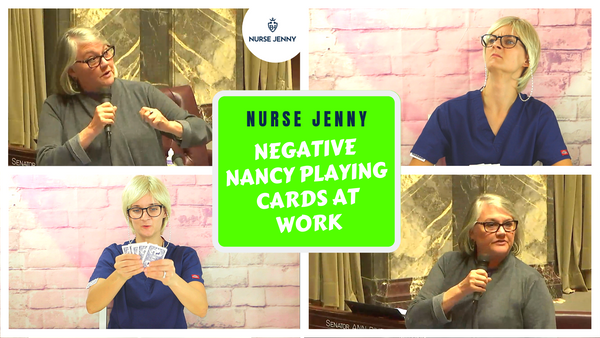 Senator Maureen Walsh Slams Nurses - Negative Nancy Playing Cards At Work!