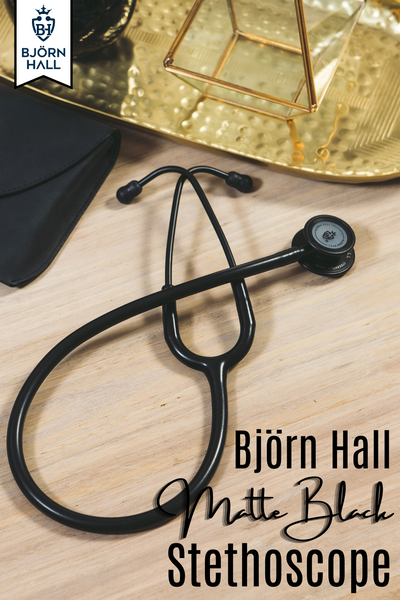 Bjorn Hall Matte Black Stethoscope, Perfect For Nurses and EMT!
