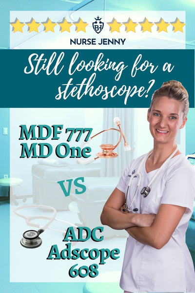 MDF 777 MD One Stethoscope vs ADC Adscope 608 Stethoscope
