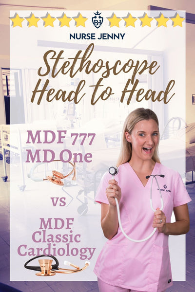 MDF MD ONE 777 Stethoscope vs MDF Classic Cardiology Stethoscope