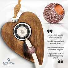 BJÖRN HALL Stethoscope Charm Ring | Violet Kiss Crystal - Rose Gold