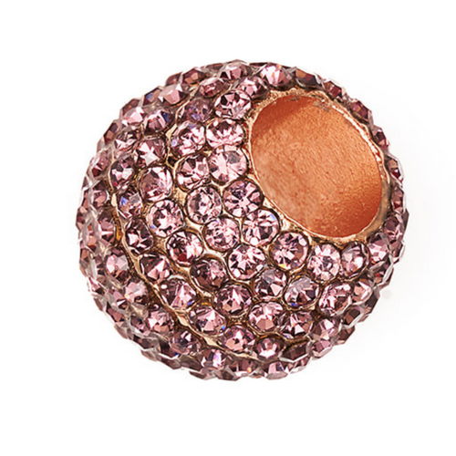 BJÖRN HALL Stethoscope Charm Ring | Purple Crystal - Rose Gold