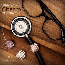 BJÖRN HALL Stethoscope Charm Ring | Rainbow Crystal - Rose Gold