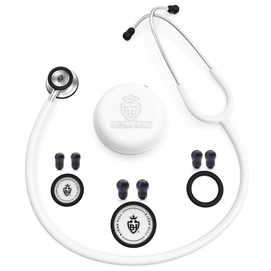 Björn Hall Stethoscope White Stainless Steel