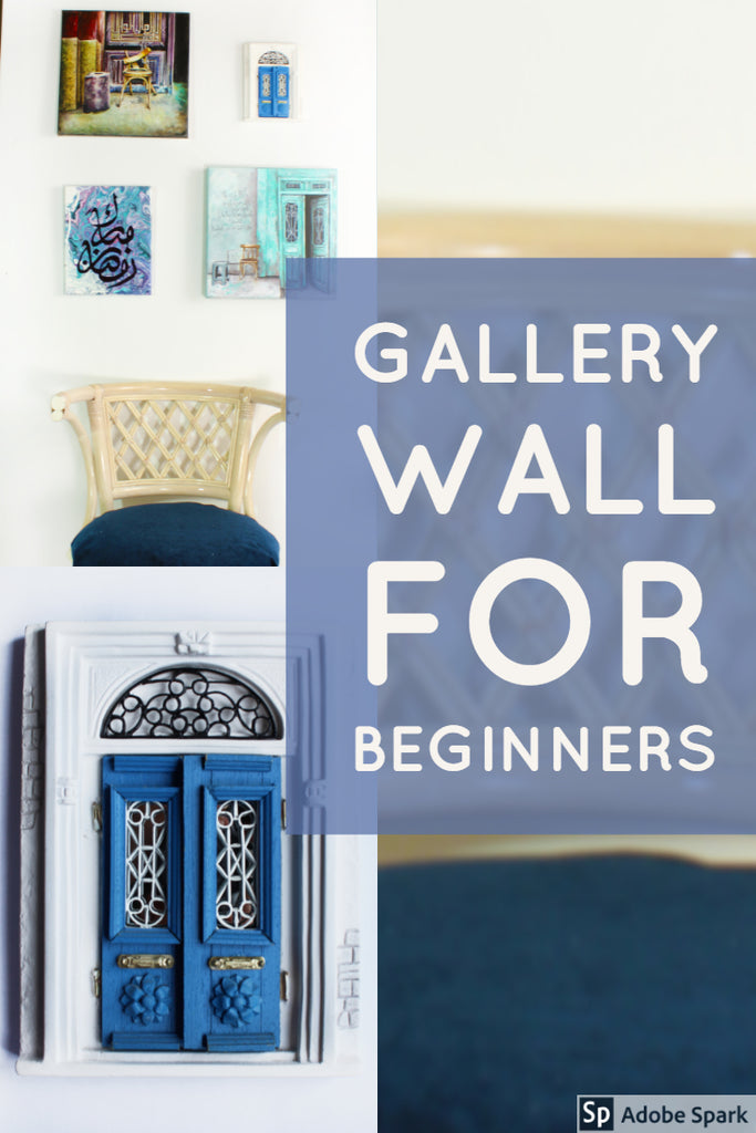 Creating Small Gallery wall for beginners