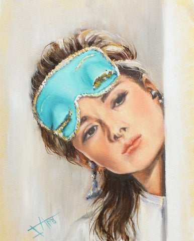 Blue Mask - Art print - Audrey Hepburn in Breakfast at Tiffany's