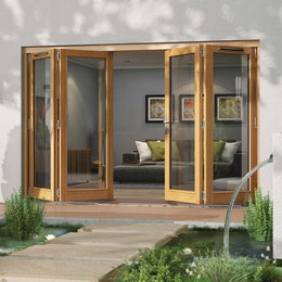 Oak Folding Patio Door