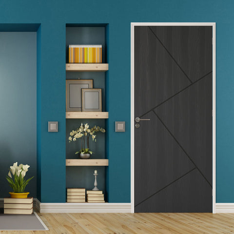 dark-grey-empossed-lines-door