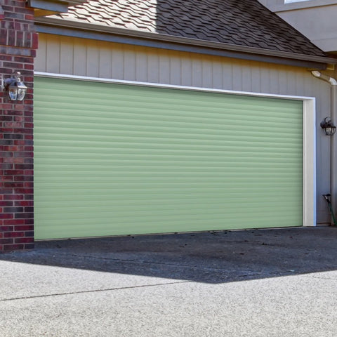 Gliderol Electric Insulated Roller Garage Door from 4472 to 4890mm Wide - Chartwell Green