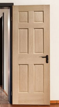 Regency 6 panel Oak Door without Raised Mouldings