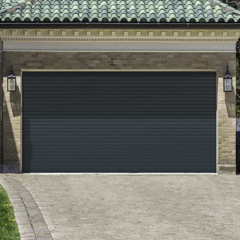 Gliderol Electric Insulated Roller Garage Door from 3051 to 3671mm Wide - Anthracite