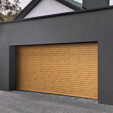 Gliderol Electric Insulated Roller Garage Door from 2287 to 2591mm Wide - Irish Oak