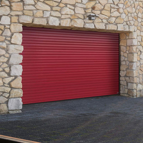 Gliderol Electric Insulated Roller Garage Door from 2592 to 3050mm Wide - Purple Red