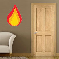 internal shaker style fire rated door