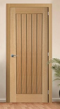 Mexicano Oak Door with Vertical Lining
