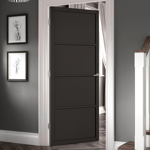 Black panel contemporary doors