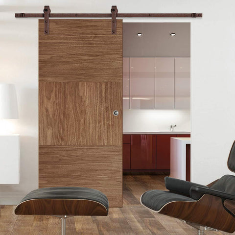 modern traditional sliding door