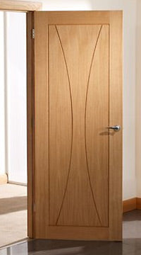 Verona Oak Flush Panel Door