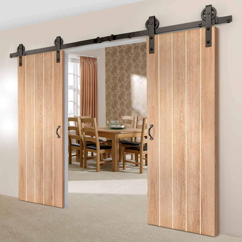 oak traditional sliding door