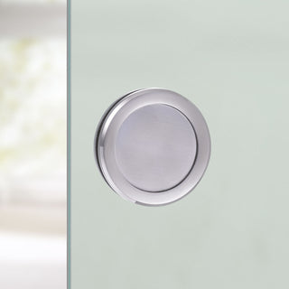 Image: Griffwerk Circle 60mm Aluminium SSO Flush Pull - Surface Fix For Full Pane Glass Doors